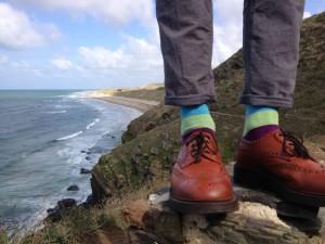 Stout shoes for bouldering, Carteret.