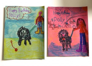 Happy Birthday Polly, from Poppy and Daisy.