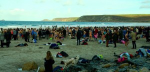The Sennen Beach Swim 2014.