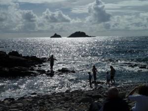 Swimming at Priest's Cove.