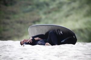It's so tiring on the beach.