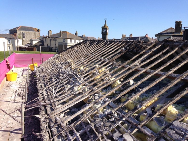 The roof didn't last long.