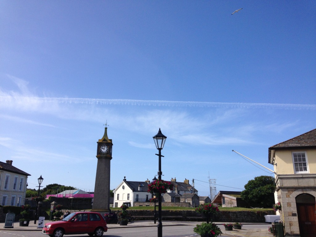 The long view - Archavon, hiding behind the mad St Just town clock.