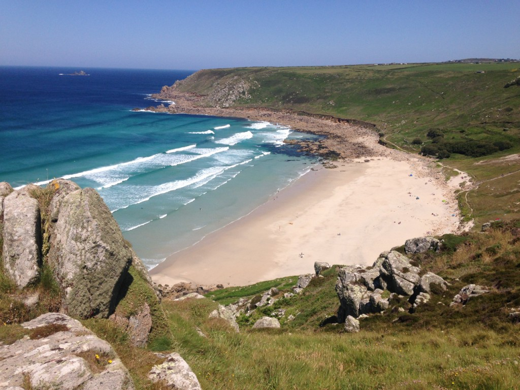 Gwynver, our favourite beach.