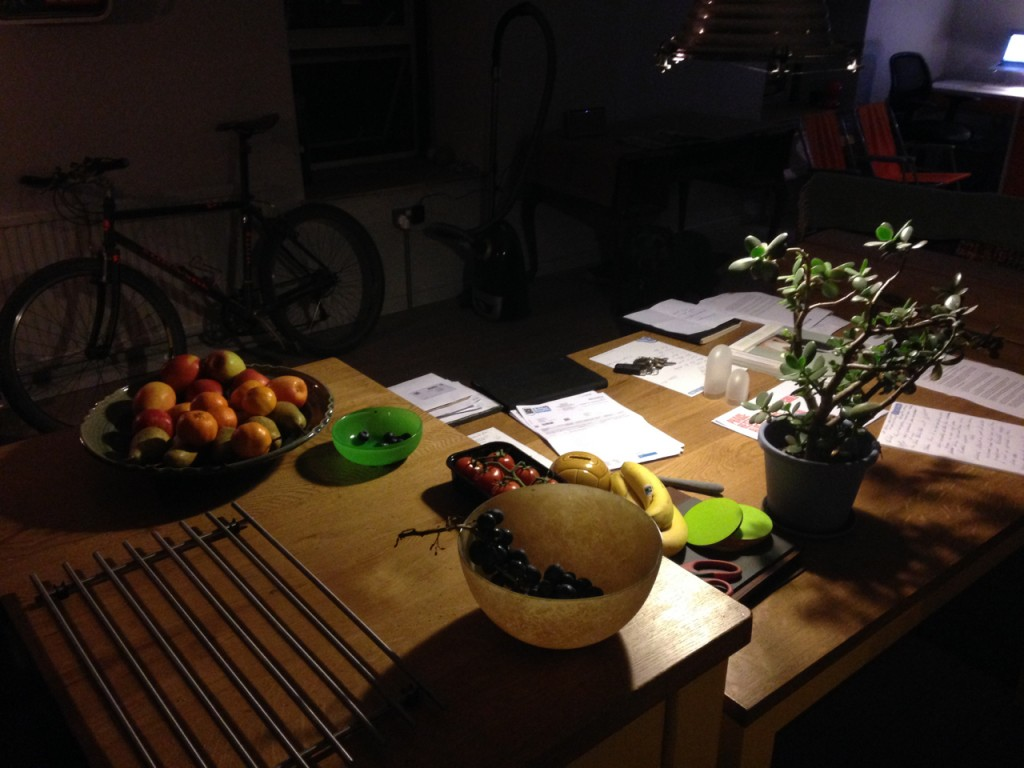 And lends itself to a night time still life.