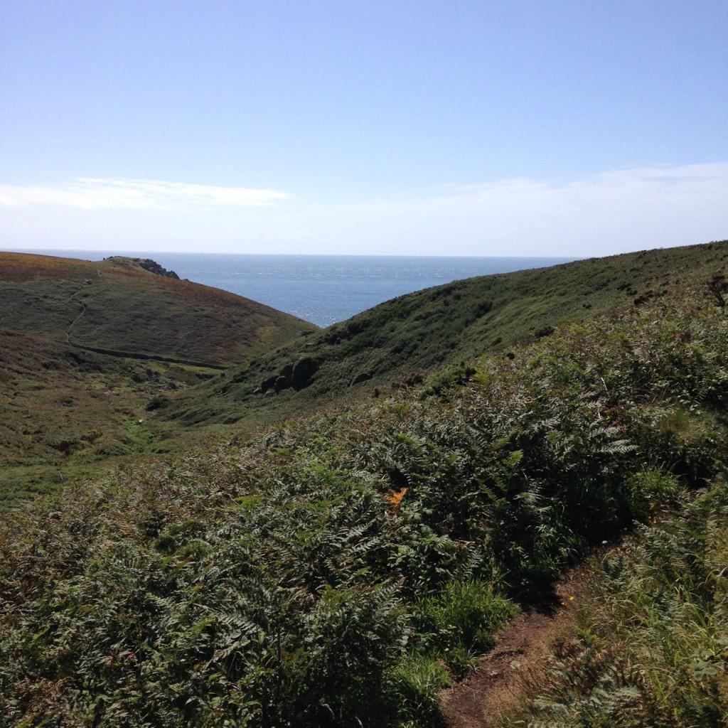 The walk to Nanjizel Beach from Trevescan