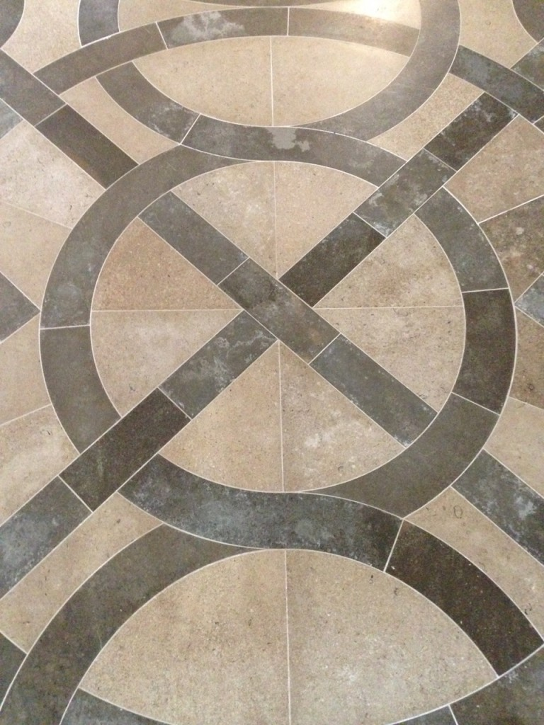 One of the many great floors in the Abbey.
