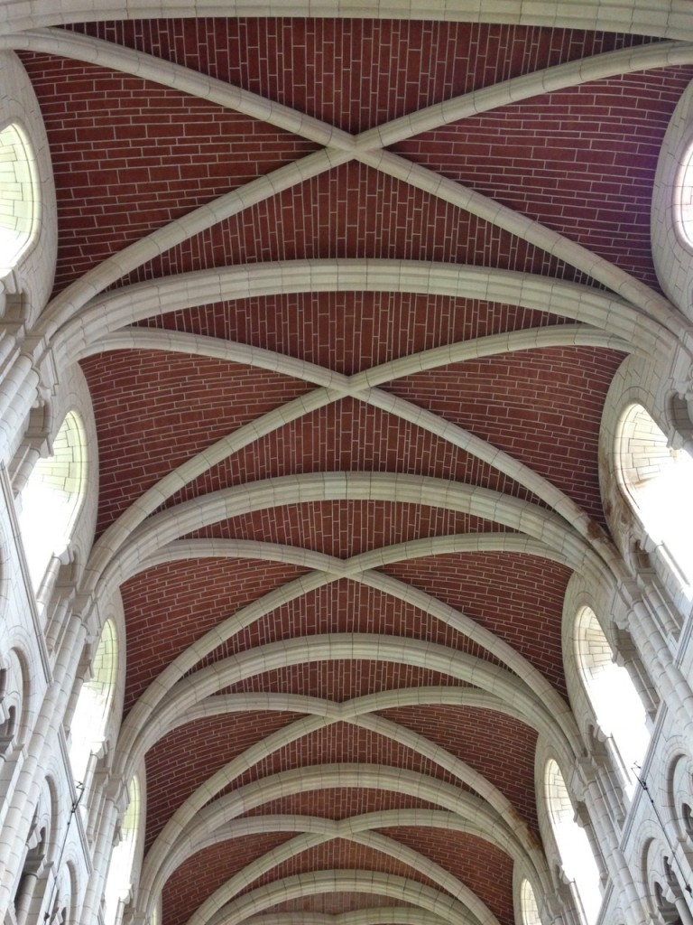 Simple, beautiful ceiling at the abbey.