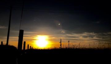 Winter sunset - Tregiffian