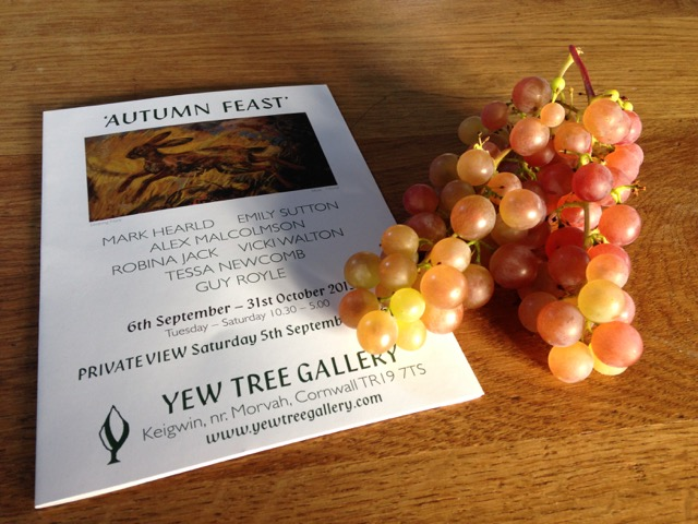 Exhibition, and locally grown grapes.