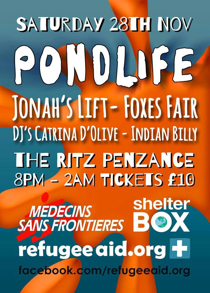 Pond Life - a one off gig on Saturday 28th November.