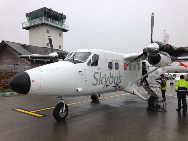 Twin Otter, the bigger of the planes flying out of St Just.