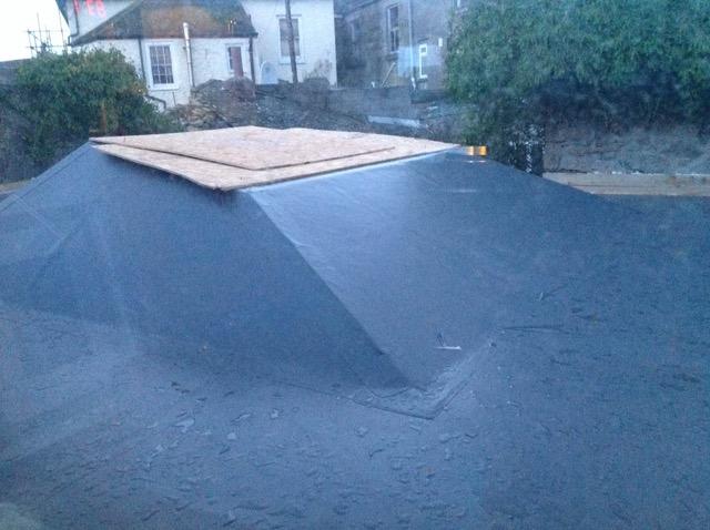 Sarnofil roofing membrane.