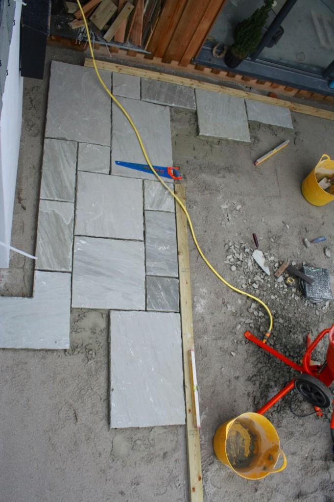 Floor slabs going down.