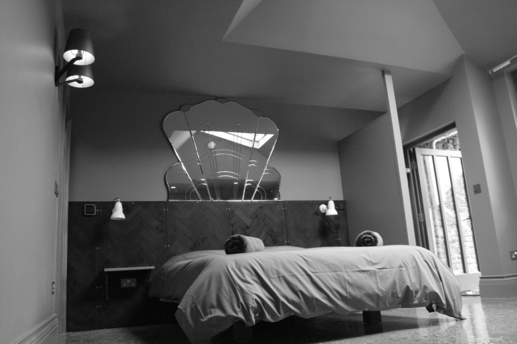 Even more grey than reality. There's a wonderful Eve mattress hiding under there to bring blissful sleep to our guests.