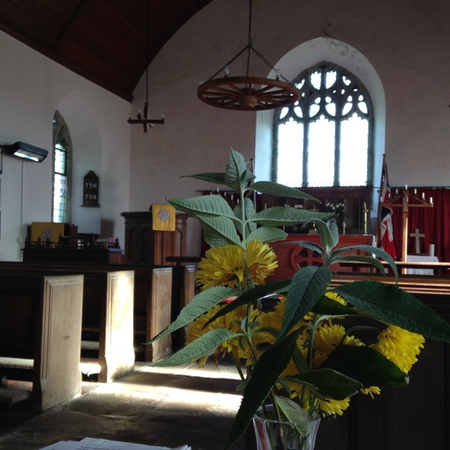 Inside Morvah Church