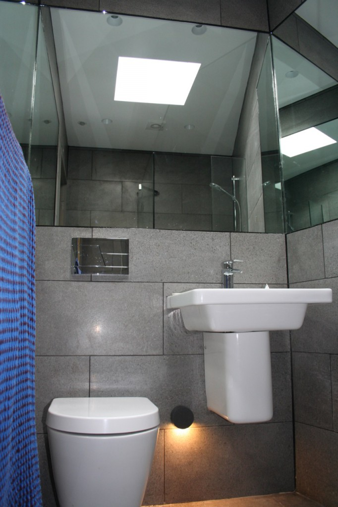 Hall of mirrors, just because the shower room is small doesn't mean it shouldn't be a luxurious experience.