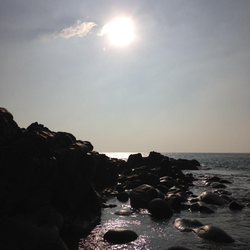 Porth Nanven - warm sunshine in March.