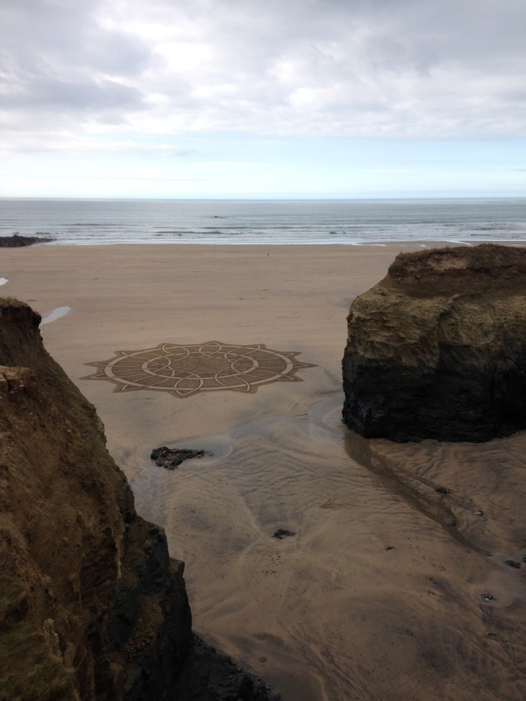 Sand art at Gwithian