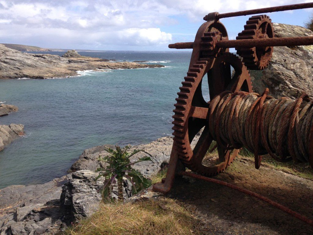 Winch above Piskie's Cove.