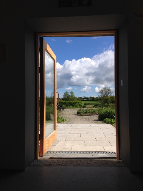 Looking out from the gallery