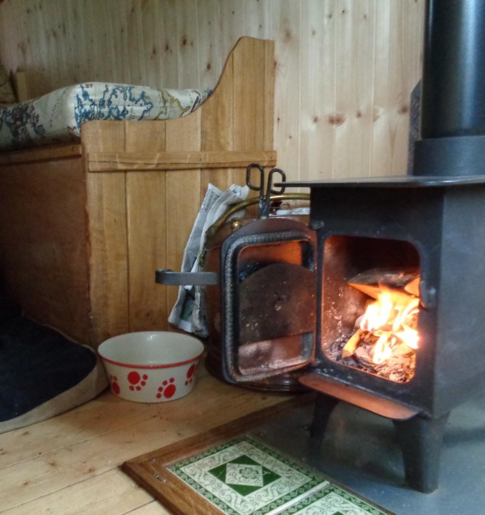 The tiny, yet effective, wood burner.