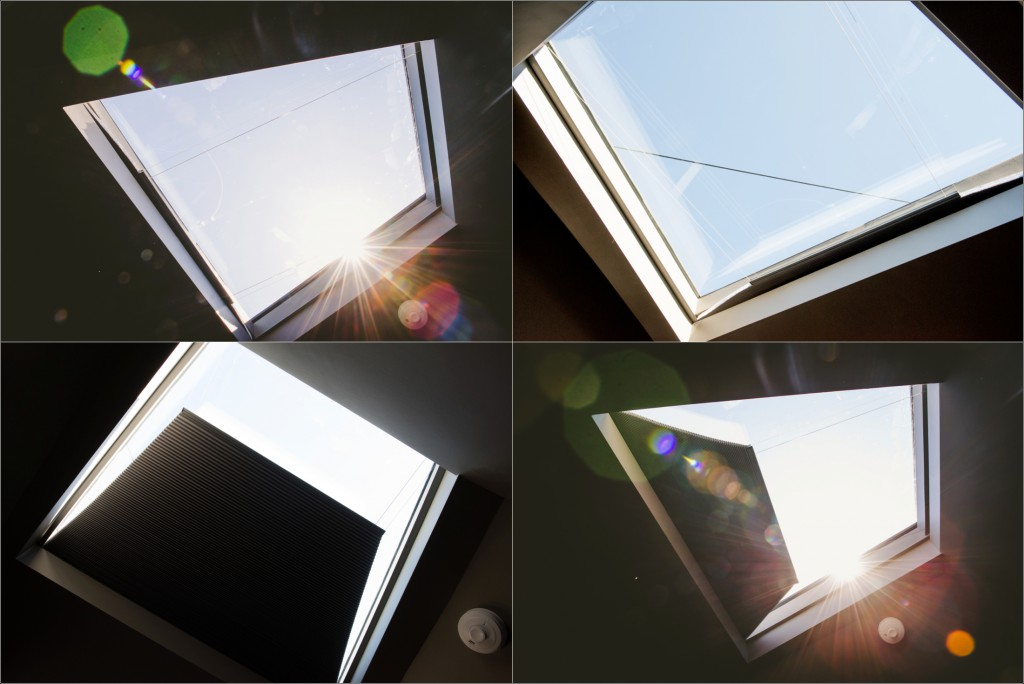The skyspace roof light that tempts you to lie on the bed all day long.