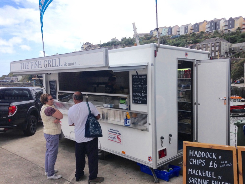 The best fish and chips in Mevagissey.