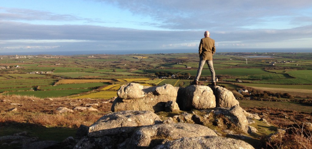 Looking out from Chapel Carn Brea.