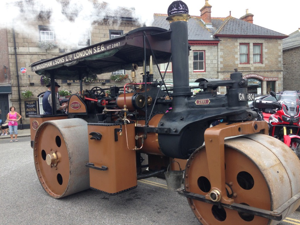 Steam driven beast outside The Wellington