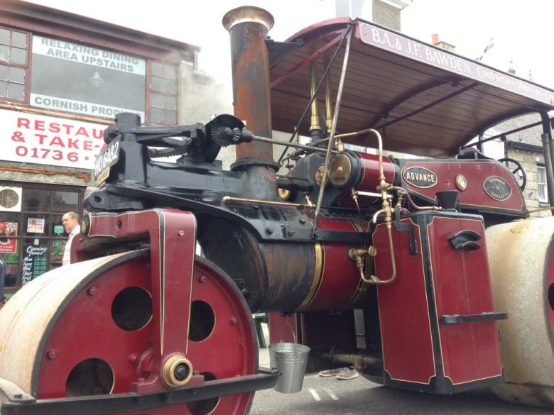 Even traction engine drivers love fish and chips - at Jeremy's.