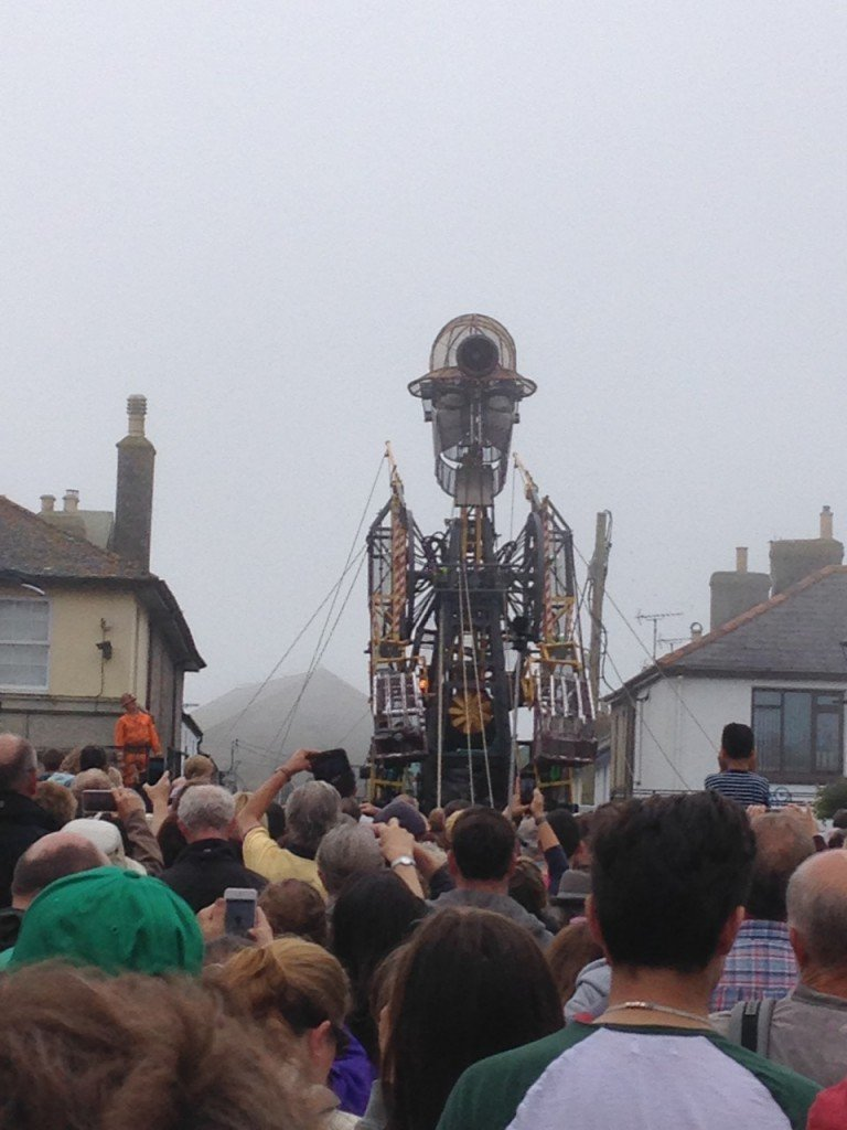 The Man Engine on Bank Square, St Just.