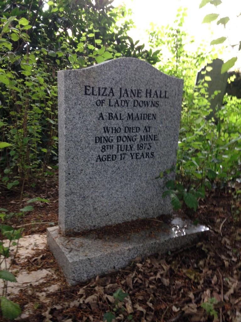 INteresting headstone in Gulval cemetery. A bal maiden was a mine worker - damn hard!