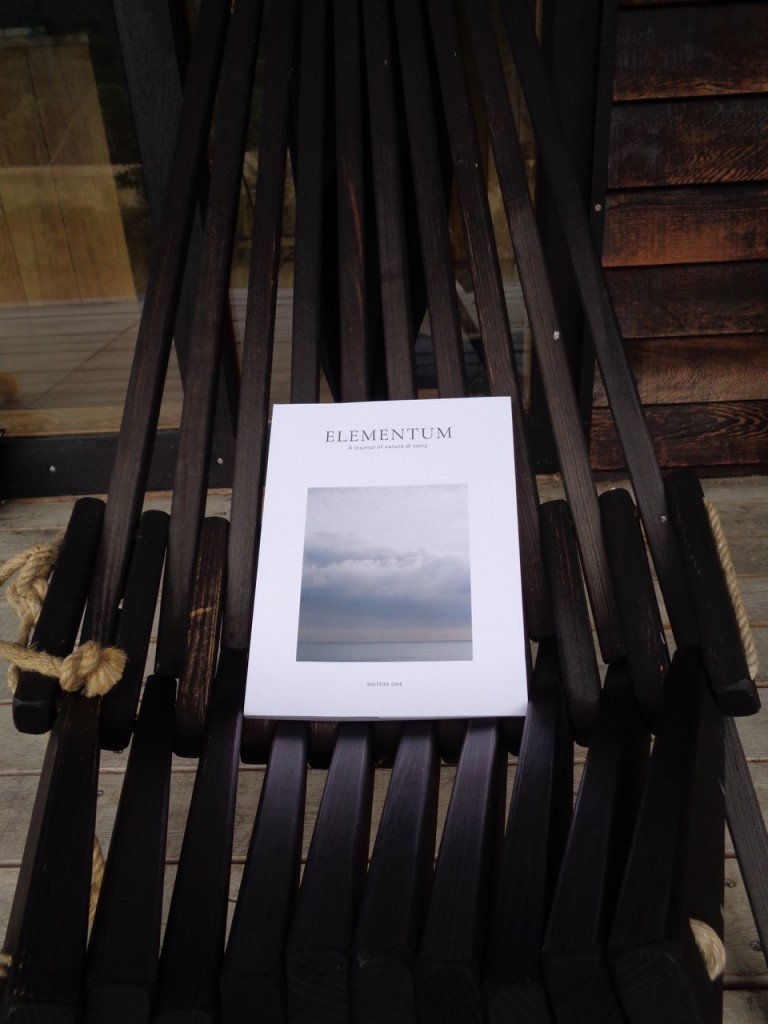 The beautiful new magazine Elementum, or one of McKelvie's scorched oak chairs.