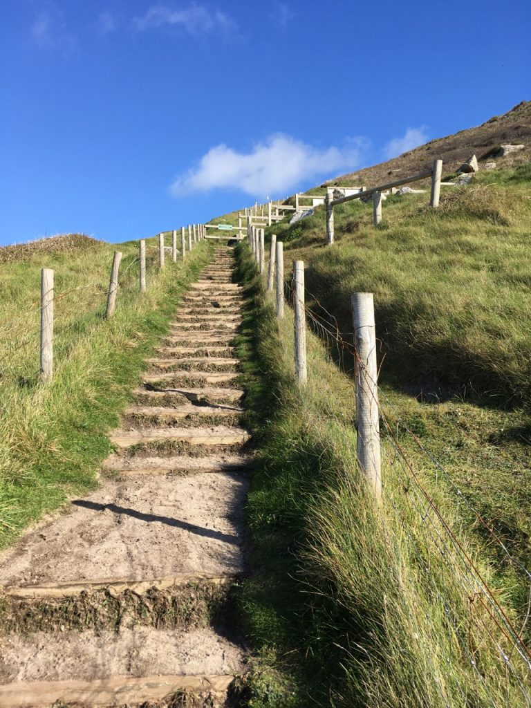 The path back for Gwenver - that'll warm you up!