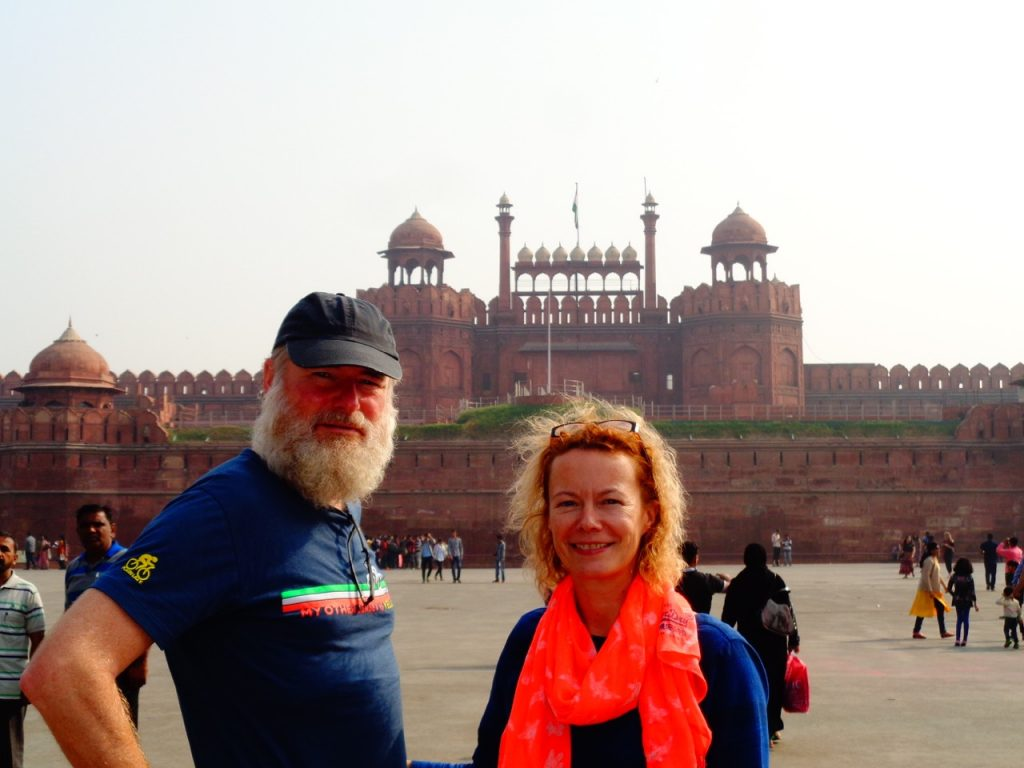 KC and Minty at the Red Fort, Delhi.