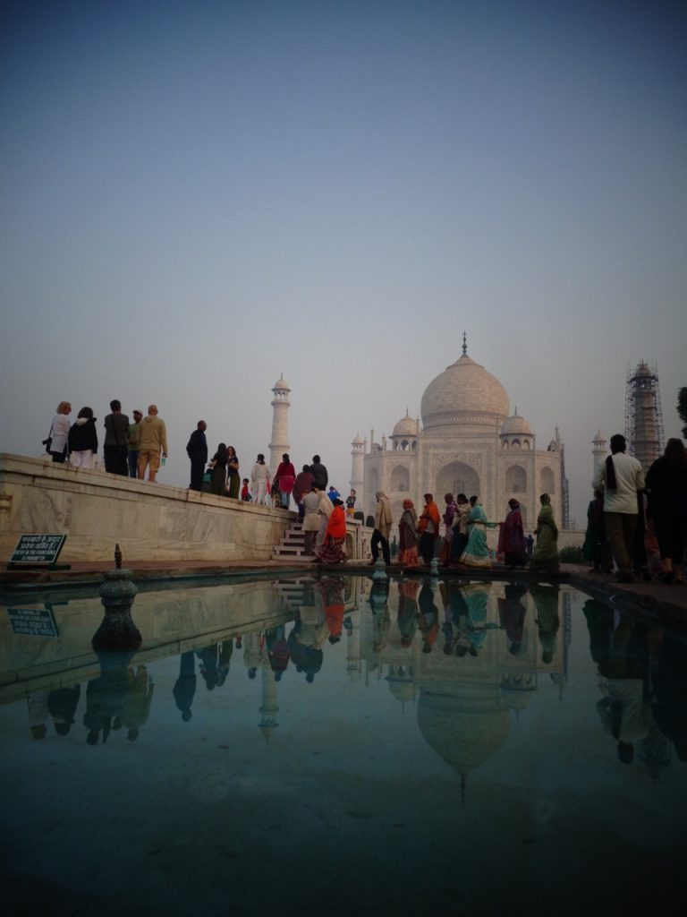 The Taj Mahal - get there early!