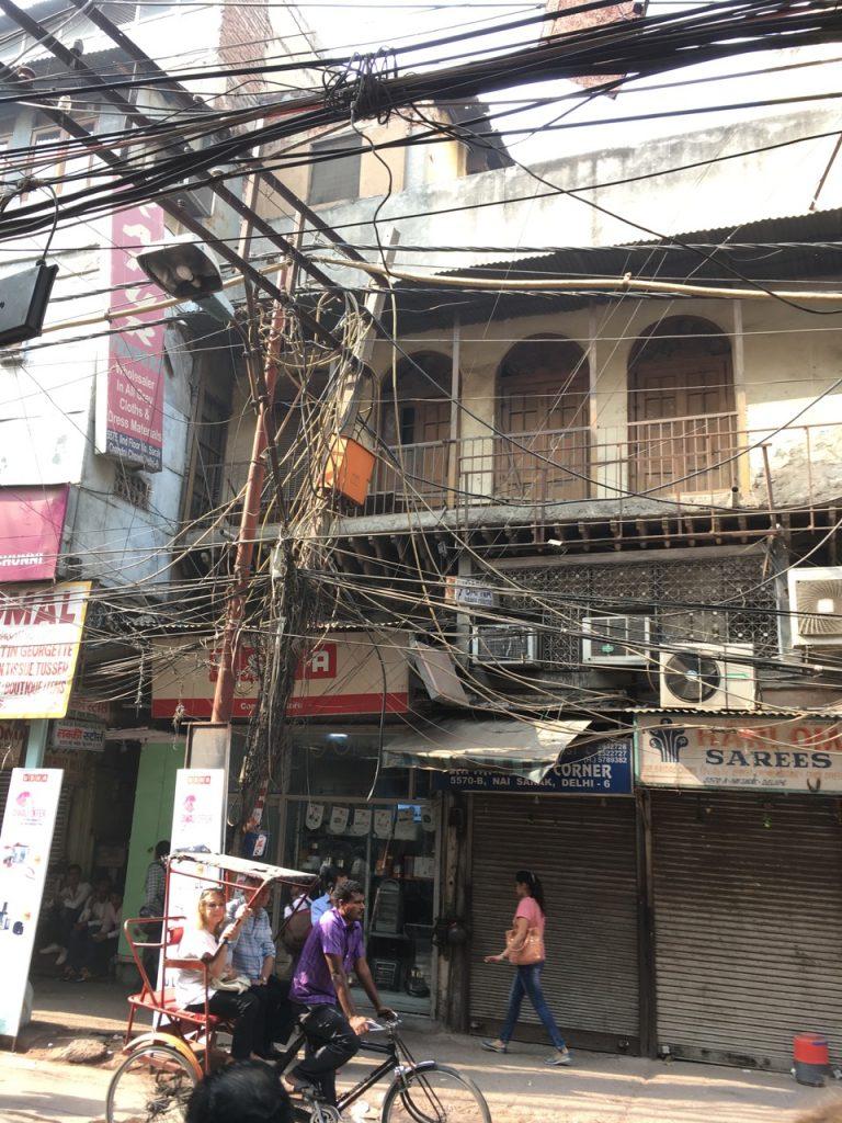 Challenging cabling in Delhi.