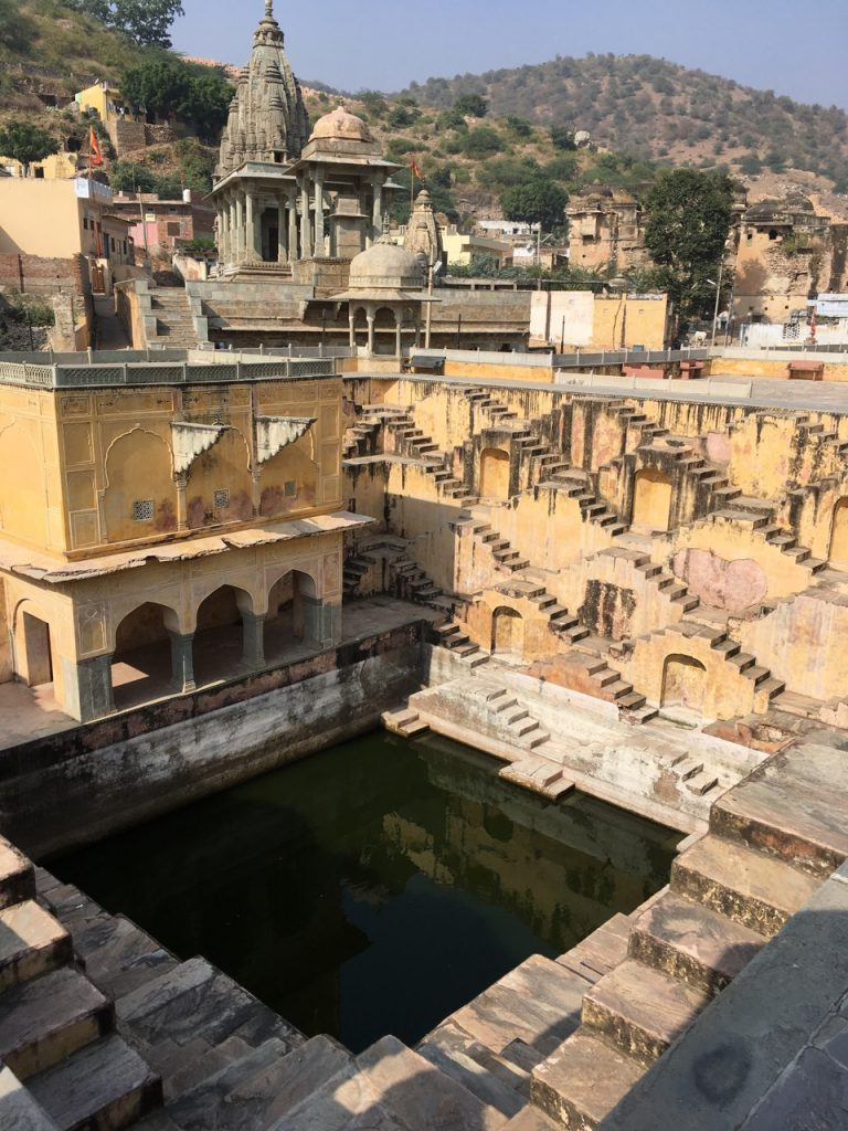 A step well beneath the Amber Fort.