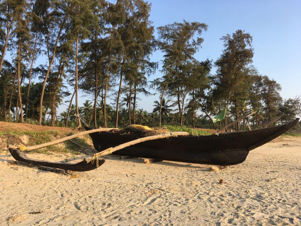 The beach at Majorda, Goa.