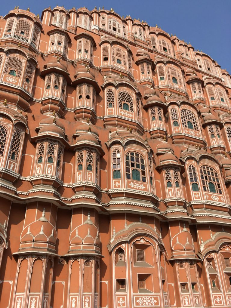 The Windy Palace in the pink city of Jaipur.